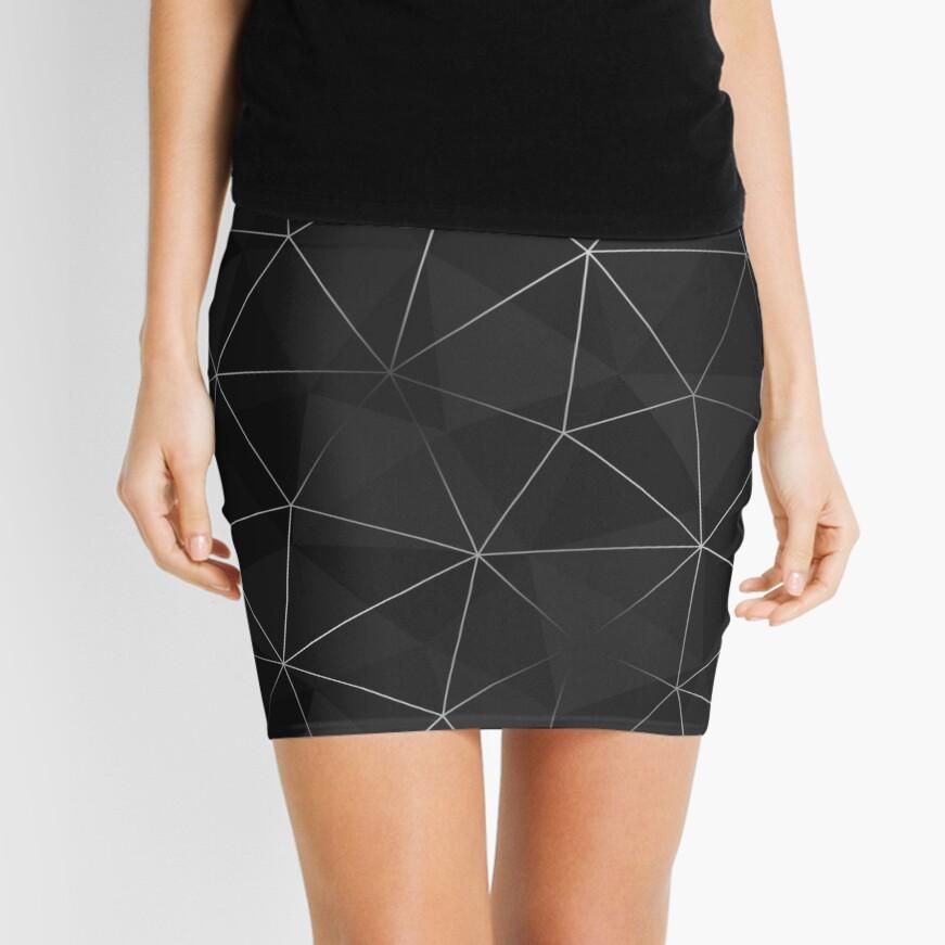 Kintsugi - Silver Mesh Mini Skirt