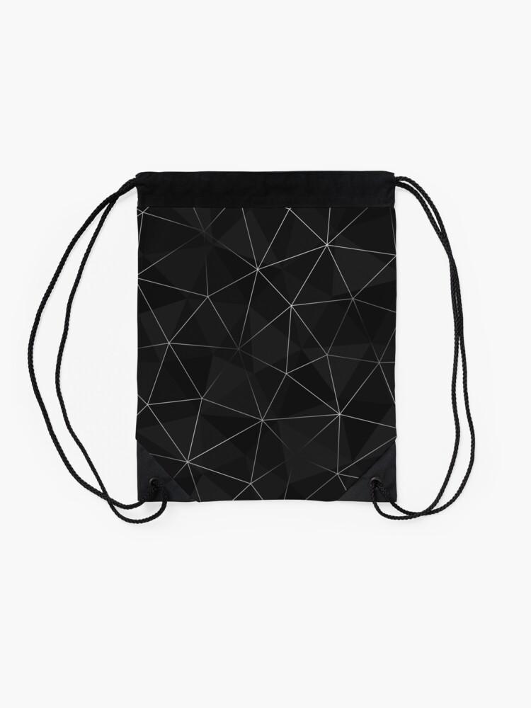 Alternate view of Kintsugi - Silver Mesh Drawstring Bag