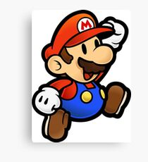 Jumping Mario Canvas Print