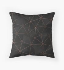 Kintsugi - Rose Gold Mesh Throw Pillow