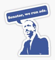 Pegatina Senador, publicamos anuncios.