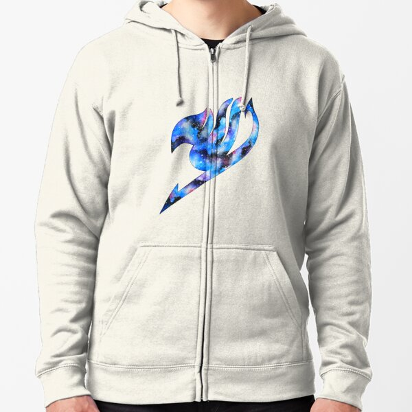 galaxy fairy tail logo Zipped Hoodie