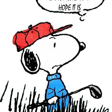 Snoopy Peanuts Golf Funny  by arrowroottees