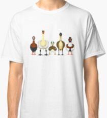 Anatidae in a Row Classic T-Shirt