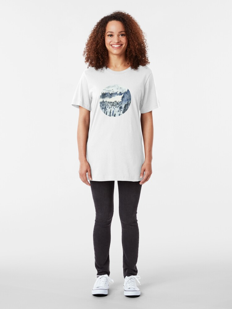 Alternate view of You'll Find Me In The Forest Slim Fit T-Shirt
