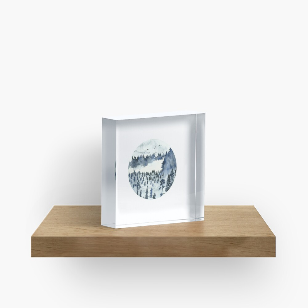 You'll Find Me In The Forest Acrylic Block