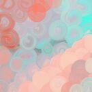 Gray Abstract Circles by CheriesArt