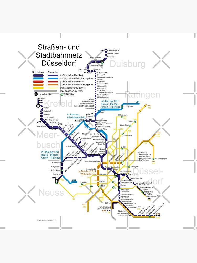 Dusseldorf Subway Map From Airport.Dusseldorf Metro Subway U Bahn S Bahn Map Germany Tote Bag