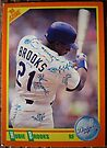 199 - Hubie Brooks by Foob's Baseball Cards