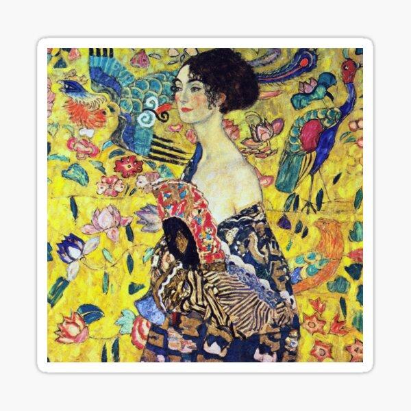 Gustav Klimt - Dame mit Fächer Sticker