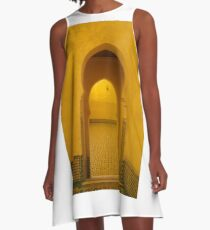 Morocco Meknes Mosque archway A-Line Dress