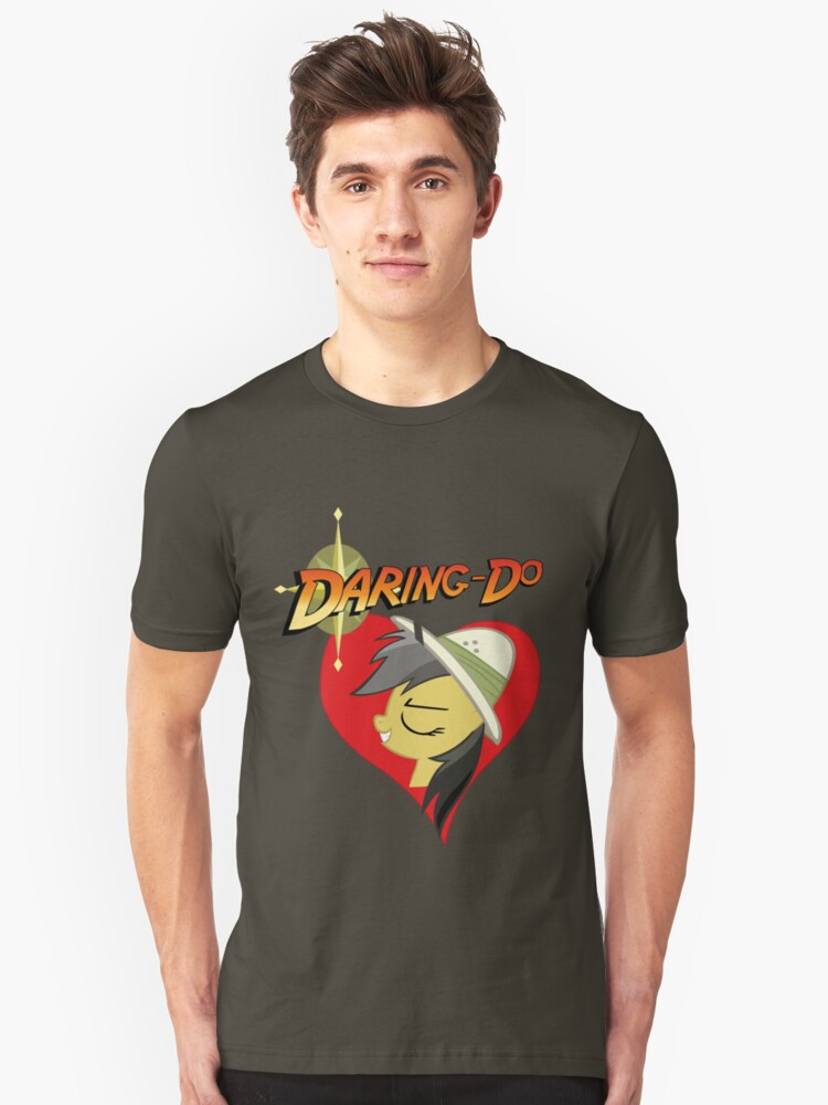 I have a crush on... Daring do - with less text Unisex T-Shirt Front