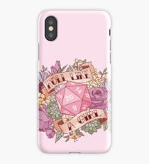Roll Like a Girl iPhone Case