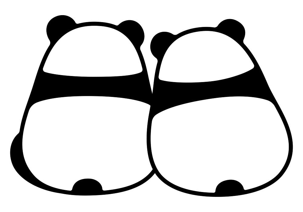 Couple De Panda Dessin Anime Mignon Par Irmirx Redbubble