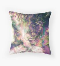 Fragmented Abstract Artwork Throw Pillow