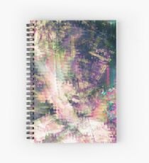 Fragmented Abstract Artwork Spiral Notebook