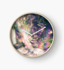 Fragmented Abstract Artwork Clock