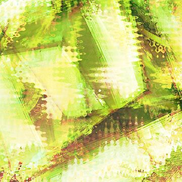 Fragmented Green Abstract Artwork by CreativeBytes