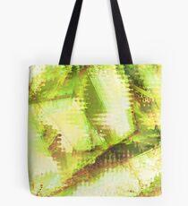 Fragmented Green Abstract Artwork Tote Bag