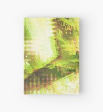 Fragmented Green Abstract Artwork Hardcover Journal