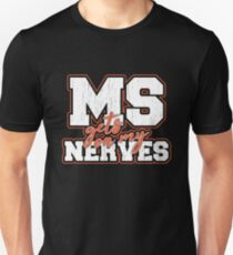 bd9864cc Multiple Sclerosis Gets on my Nerves MS Awareness T-Shirt Slim Fit T-Shirt