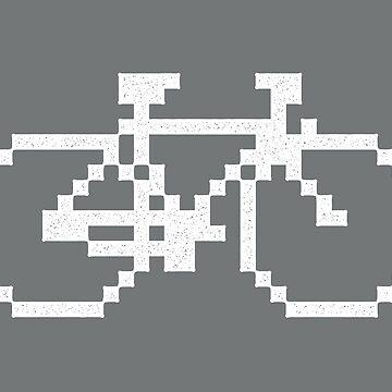 Pixel Bike (White Print) by pufahl