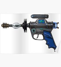 Raygun. Spacegun. Ray Gun. Space gun. Toy gun. Steampunk. Pop culture Poster