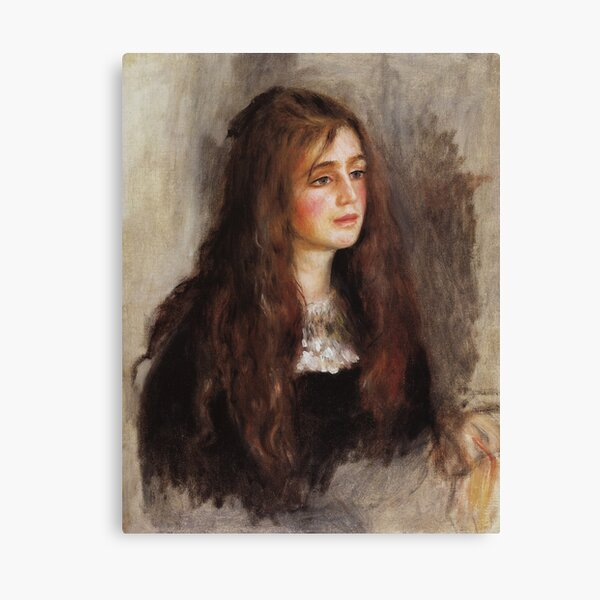 Portrait of Julie Manet-Pierre-Auguste Renoir Canvas Print