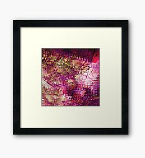Fragmented Purple Red Abstract Artwork Framed Print