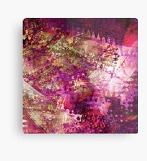 Fragmented Purple Red Abstract Artwork Metal Print