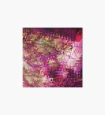 Fragmented Purple Red Abstract Artwork Art Board