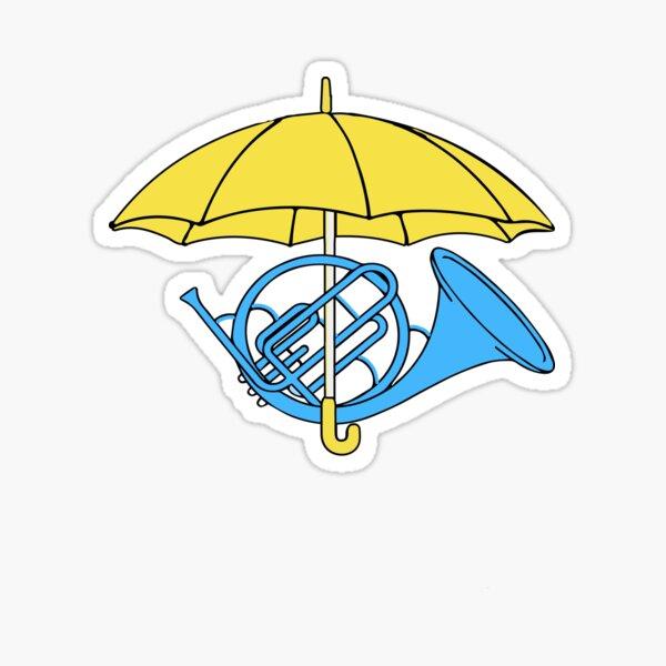 Himym Umbrella Trumpet  Sticker