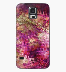 Fragmented Purple Red Abstract Artwork Case/Skin for Samsung Galaxy