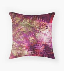 Fragmented Purple Red Abstract Artwork Throw Pillow