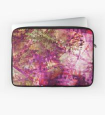 Fragmented Purple Red Abstract Artwork Laptop Sleeve