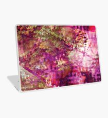 Fragmented Purple Red Abstract Artwork Laptop Skin