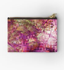 Fragmented Purple Red Abstract Artwork Studio Pouch