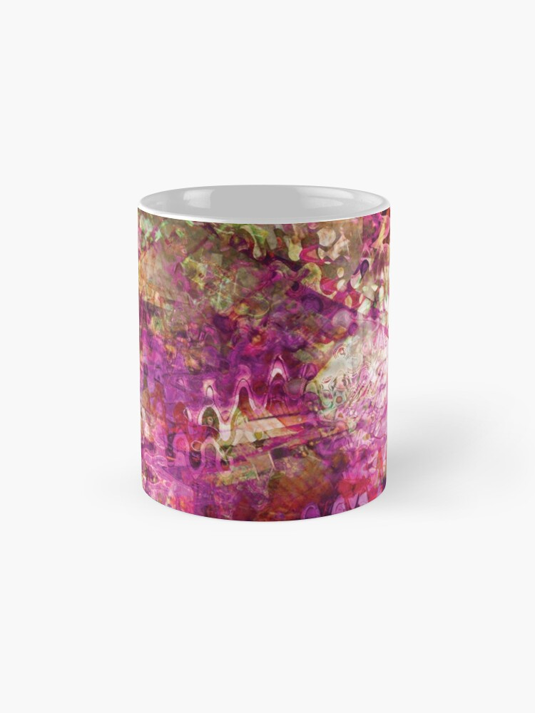 Alternate view of Fragmented Purple Red Abstract Artwork Standard Mug