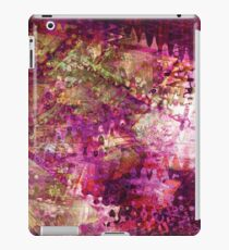Fragmented Purple Red Abstract Artwork iPad Case/Skin