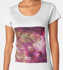 Fragmented Purple Red Abstract Artwork Women's Premium T-Shirt