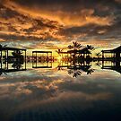 Chilled Sunset By The Pool by martin bullimore