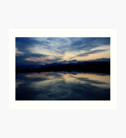 Reflections, Drakensberg, Free State Art Print