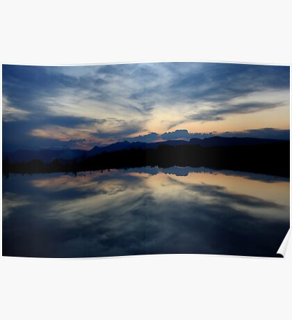 Reflections, Drakensberg, Free State Poster