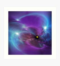 Gravitational Distort Space Abstract Art Art Print
