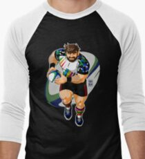 ADAM LIKES TO PLAY RUGBY Men's Baseball ¾ T-Shirt