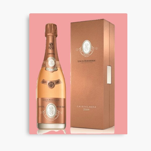 Louis Roederer Cristal Rose Champagne - Cristal Champagne Canvas Print