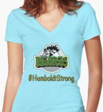 Humboldt Broncos <3 Women's Fitted V-Neck T-Shirt