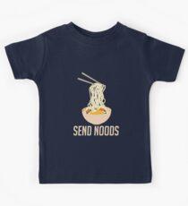 Senden Sie Noods - Lustige Ramen Nudes Quibble Kinder T-Shirt
