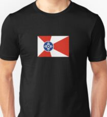 Wichita Kansas Flag USA T-Shirt Cell Phone Case Unisex T-Shirt