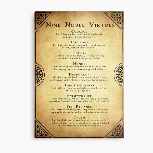 Nine Noble Virtues Metal Print